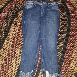 MAKE OFFER*EXPRESS HIGH WAISTED ANKLE JEANS